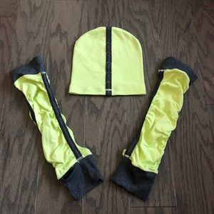 Lululemon Ruched Leg Warmers and Beanie Hat